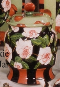 Plum Rose Cookie Jar