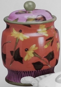 Plum Zinnia Cookie Jar