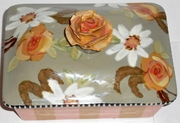 Sage Bouquet Jewelry Box with Rose Knob