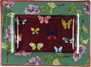Stevie's Lilac Butterfly Rectangular Platter