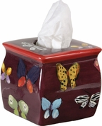 Stevie's Lilac Butterfly Tissue Holder