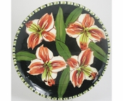 Striped Lily - Unrimmed Salad Plate