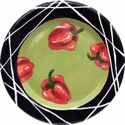 Taste of Thai Rimmed Dinner Plate/Pepper