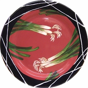 Taste of Thai Rimmed Dinner Plate/Scallion