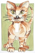 Tiger Cat Light Switch Cover