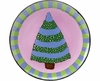 Trees/Striped Pine - Unrimmed Salad Plate