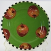 Winter Apple Rimmed Dinner Plate