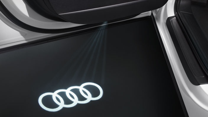 Led Puddle Light Audi Rings Logo
