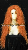 Brave Princess Merida Custom Styled Curly Wig
