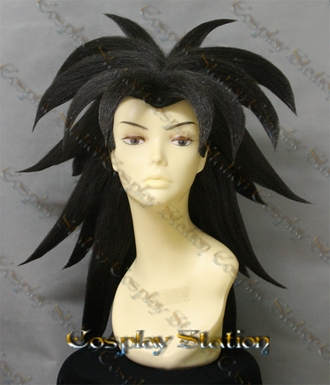 Broly Black Custom Made Cosplay Wig