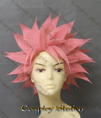 Fairy Tail Cosplay Natsu Dragneel Custom Made  Cosplay Wig