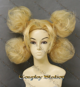 Naruto Temari of The Sand Custom Made Blond Cosplay Wig