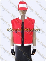 Pokémon Trainer Red Cosplay Costume