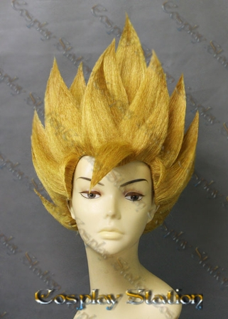 Super Saiyan 2 Goku Custom Made Cosplay Wig