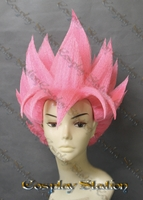 Super Saiyan Goku Pink Custom Made Cosplay Wig
