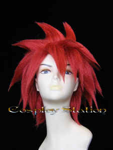 Tales of Symphonia Kratos Aurion Red Prestyled Cosplay Wig