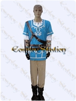 The Legend of Zelda Breath of the Wild Link Custom Made Cosplay Costume: High Quality!