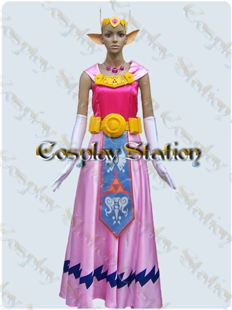 The Legend Of Zelda The Wind Waker  Princess Zelda Cosplay Costume