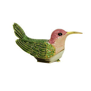 Ann's Hummingbird Trinket Box