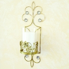 Antique Gold Pillar Candle Holder Sconces San Miguel
