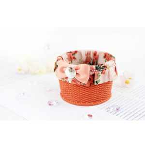 Bella Rosa Small Basket Coral