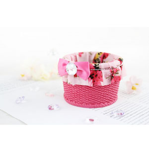 Bella Rosa Small Basket Pink