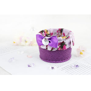 Bella Rosa Small Basket Purple