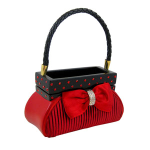 Classy Jewelry Box Handbag Red