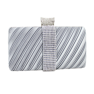 Elegant Clutch Evening Purse Collection Silver