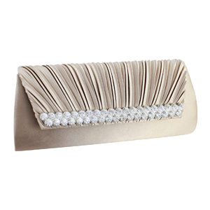 Elegant Vintage Crystals Purse Collection Beige