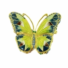 Large Morpho Butterfly Trinket Box Blue and Gold