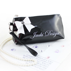 Mademoiselle Cosmetic Bag with Wristlet Black