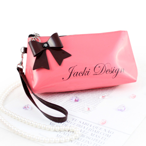 Mademoiselle Cosmetic Bag with Wristlet Coral