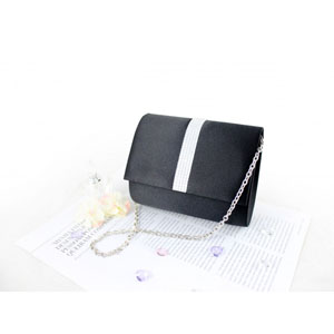 Petite Crystal Evening Purse Black