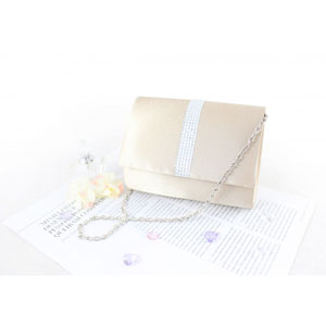 Petite Crystal Evening Purse Ivory