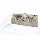 Pleated Perfection Evening Purse Ivory