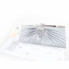 Pleated Perfection Evening Purse Silver