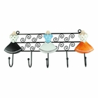 Polka Dot Mannequin 5 Wall Hook Black, Blue, Orange