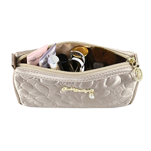 Retro Chic Compact Cosmetic Bag Champagne