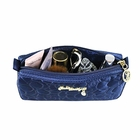 Retro Chic Compact Cosmetic Bag Navy Blue
