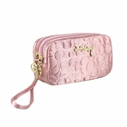 Retro Chic Cosmetic Bag with Wristlet Blush