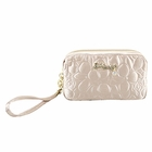 Retro Chic Cosmetic Bag with Wristlet Champagne