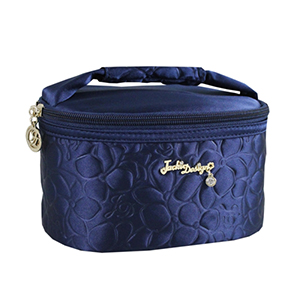 Retro Chic Train Case Navy Blue