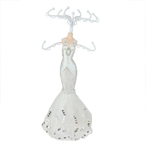 Romance Lace Collection Bridal Gown Jewelry Stand