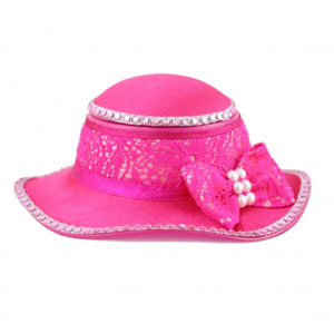 Sassy and Bright Hat Jewelry Box Hot Pink