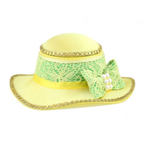 Sassy and Bright Hat Jewelry Box Yellow