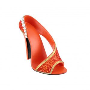 Sassy and Bright Shoe Cell Phone Holder Coral