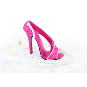 Sassy and Bright Shoe Cell Phone Holder Hot Pink