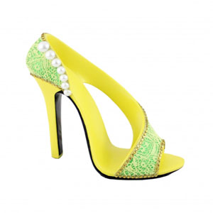 Sassy and Bright Shoe Cell Phone Holder Yellow