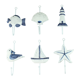 Set of 6 Nautical Wall Hook